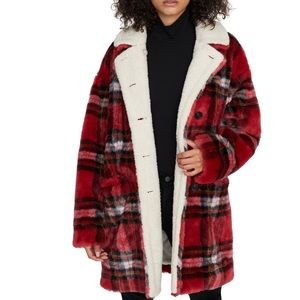 NWT Sanctuary Sierra Coat, Party Plaid, US L